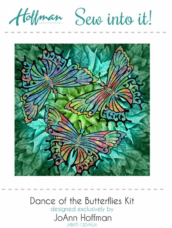 Hoffman Sew Into It Dance of the Butterflies Kit JHBKIT-130 multi