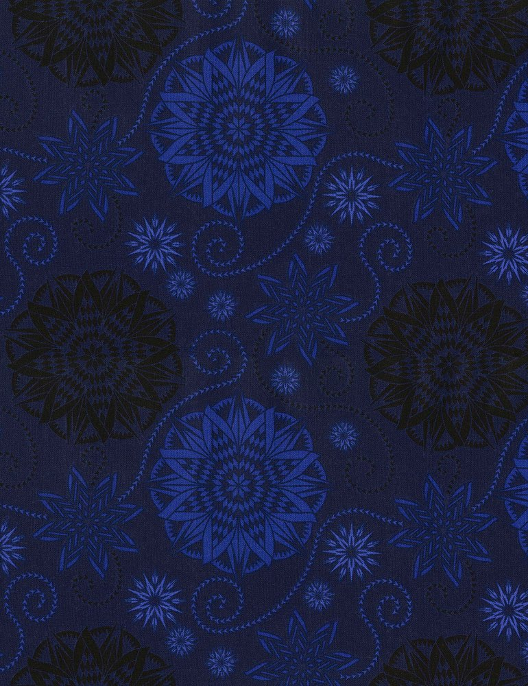 Bohemian Blues - Quilterly Medallions Medium Storm C5770