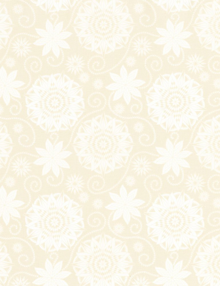 Bohemian Blues - Quilterly Medallions Medium Taupe C5770