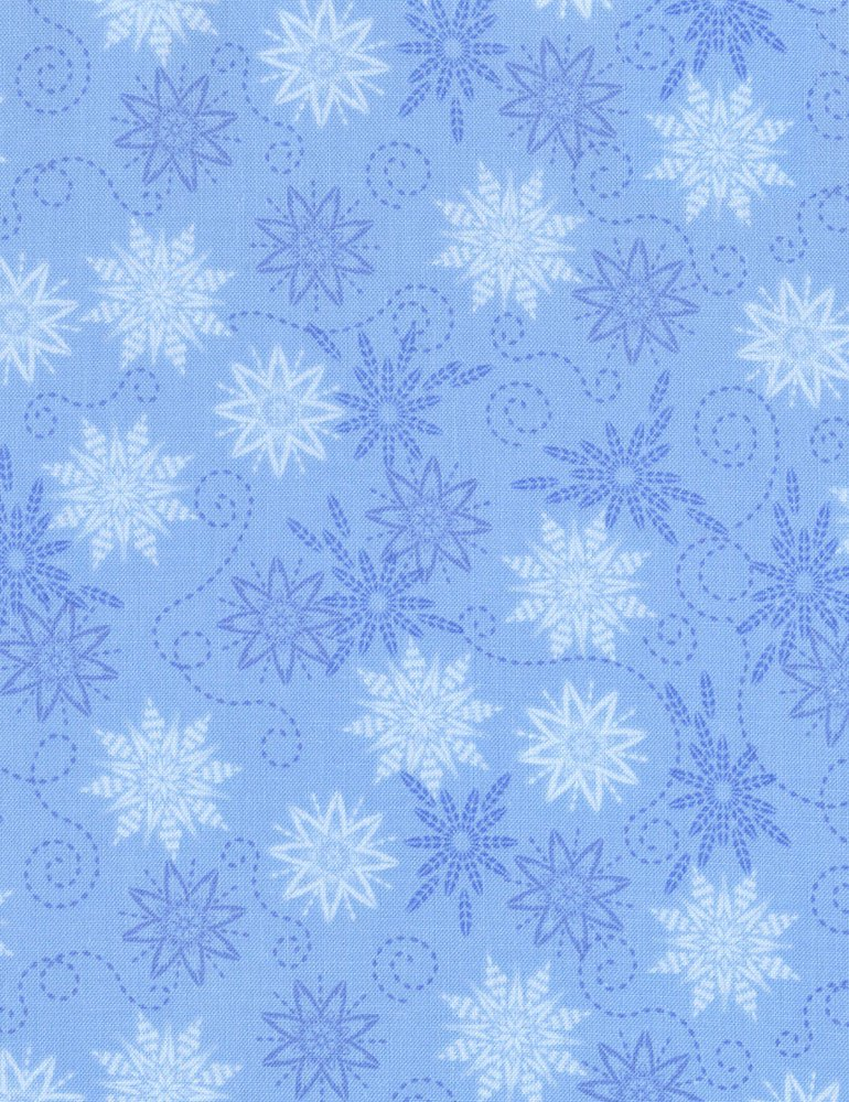 Bohemian Blues - Small Snowflakes Rain C5772