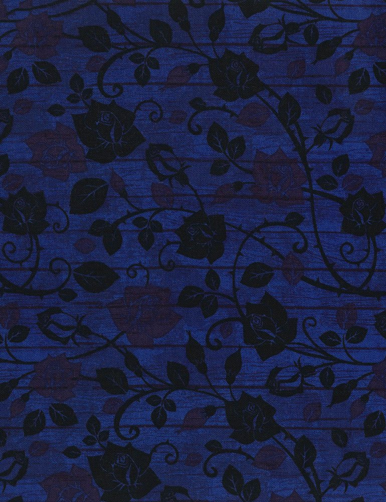 Bohemian Blues - Floral On Wood Admiral C5774