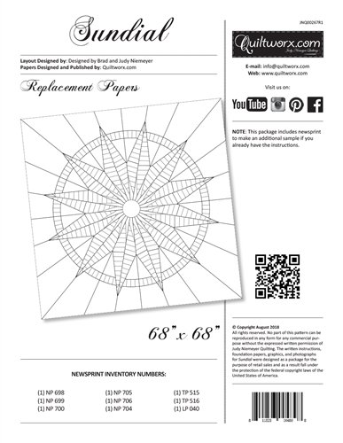 Sundial Replacement Papers JNQ267R1 finishes 68 x 68