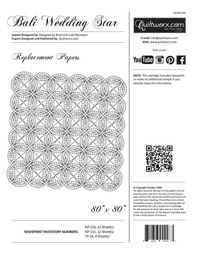 Bali Wedding Star Replacement Papers 80 x 80