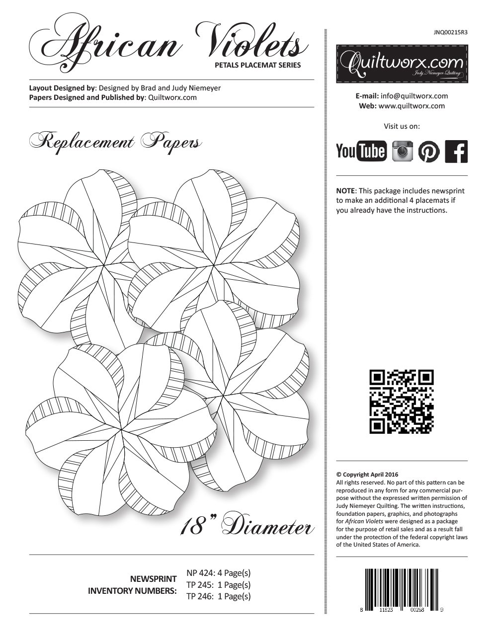 African Violets Replacement Papers