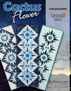 Cactus Flower Tablerunner Pattern finishes 17 x 51