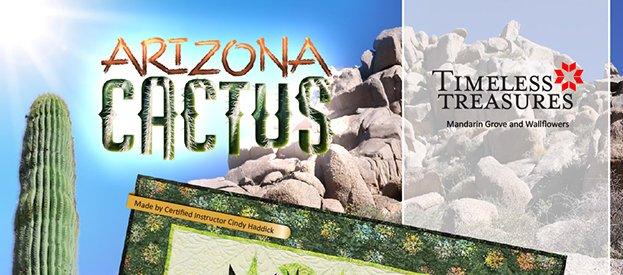 Arizona Cactus Table Topper Pattern finishes 42 x 42
