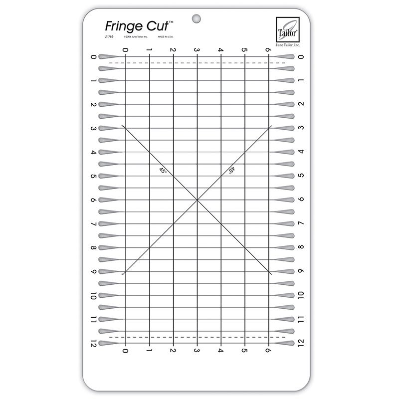 Fringe Cut Slotted Ruler JT 789