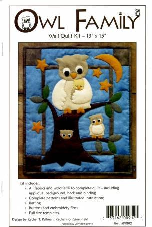 Owl Family Wall Quilt Kit K0912