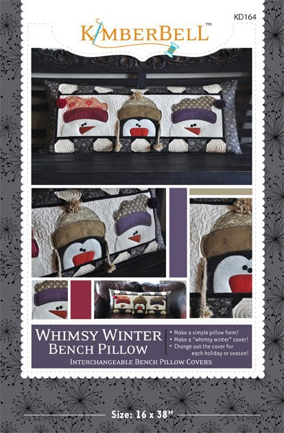 Kimberbell Whimsy Winter Bench Pillow Pattern KD164 *