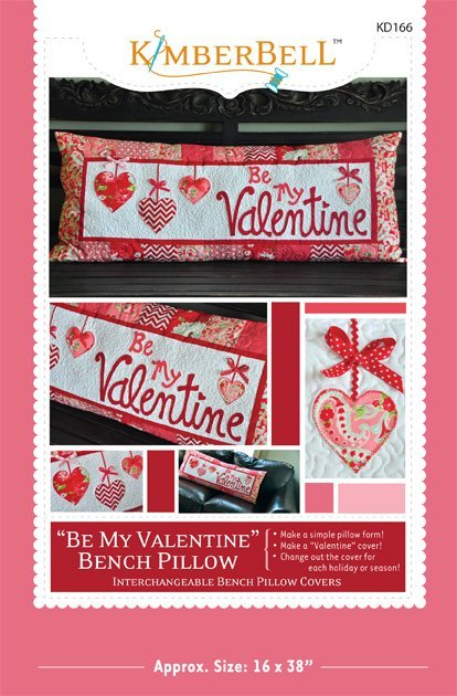 Kimberbell Be My Valentive Bench Pillow Pattern KD166