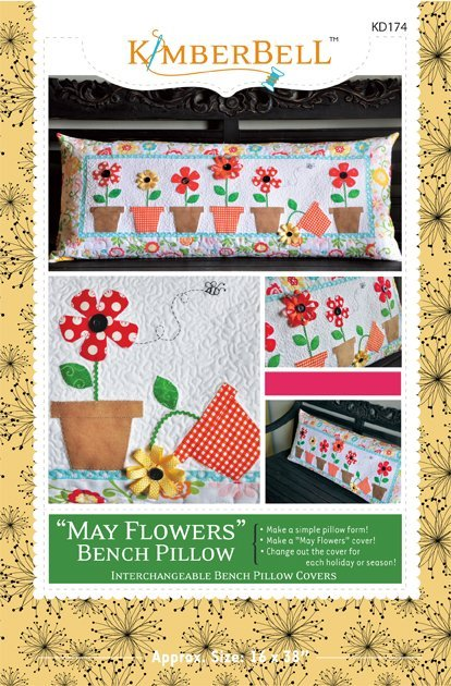 Kimberbell May Flowers Bench Pillow Pattern KD174 *