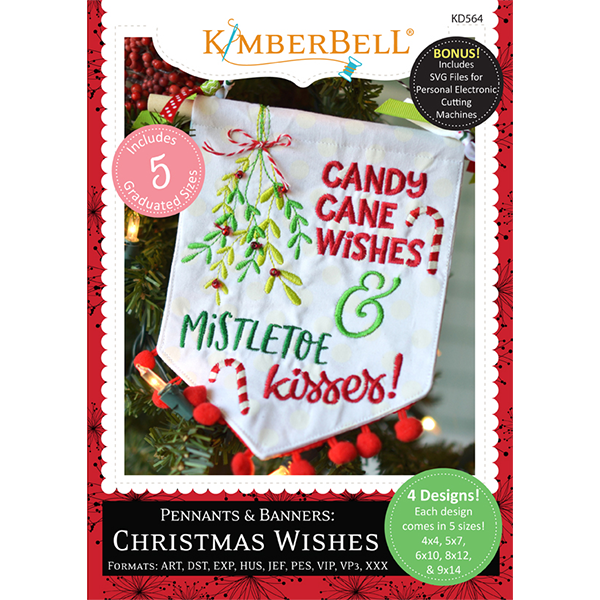 Kimberbell Christmas Wishes Pennants & Banners KD564