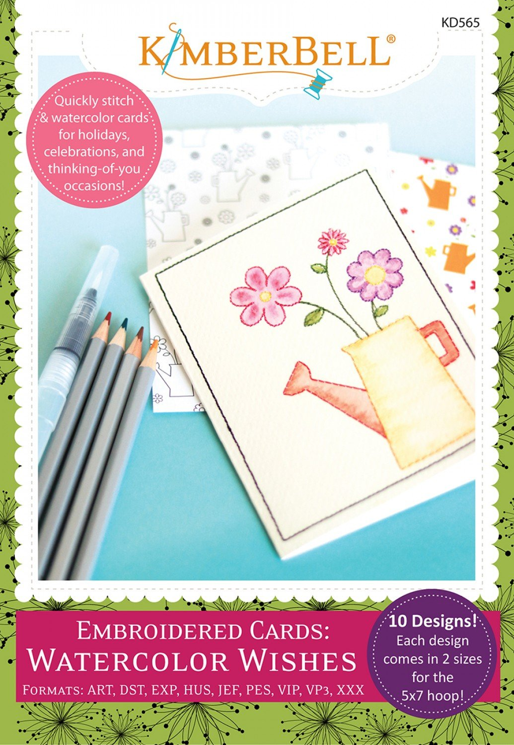 Watercolor Wishes Embroidery CD KD565