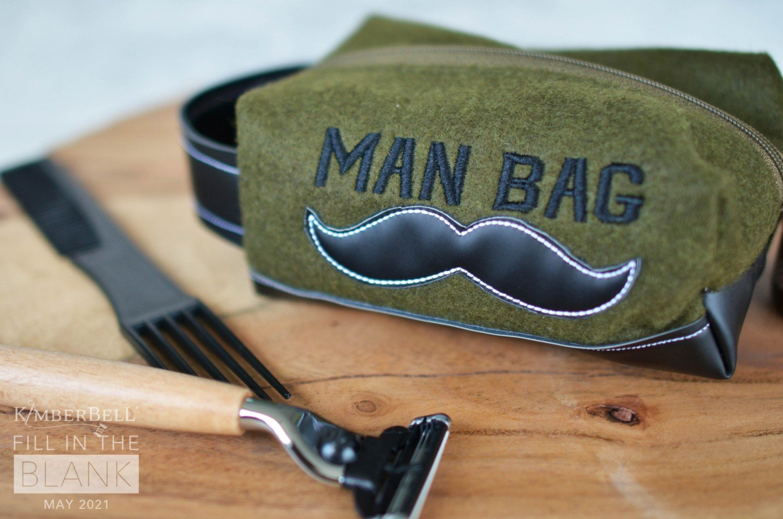 Kimberbell Man Bag Zipper Pouch and Fabric Kit