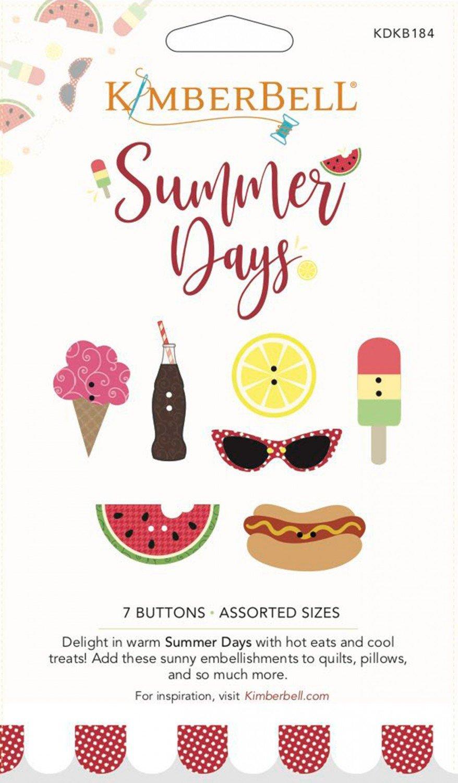 Kimberbell Summer Days Button Set - 7pcs KDKB184
