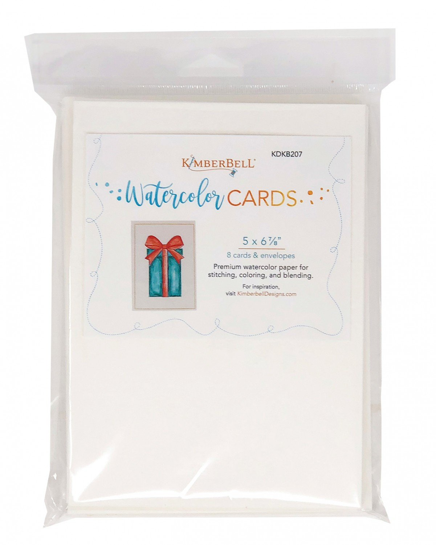 Kimberbell Premium Watercolor Cards/Envelopes (Set of 8), 5 x 6.875