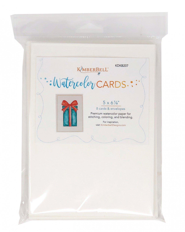 Kimberbell Premium Watercolor Cards/Envelopes (Set of 8), 5 x 6.875  *