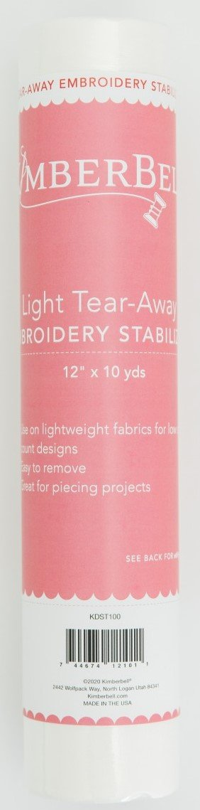 Kimberbell Light Tear-Away Embroidery Stabilizer 12 x 10yd  KDST100