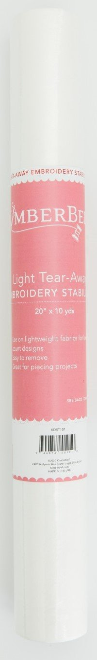 Kimberbell Light Tear-Away Embroidery Stabilizer 20 x 10yd  KDST101