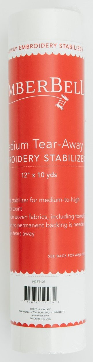 Kimberbell Medium Tear-Away Embroidery Stabilizer 12 x 10yd  KDST103