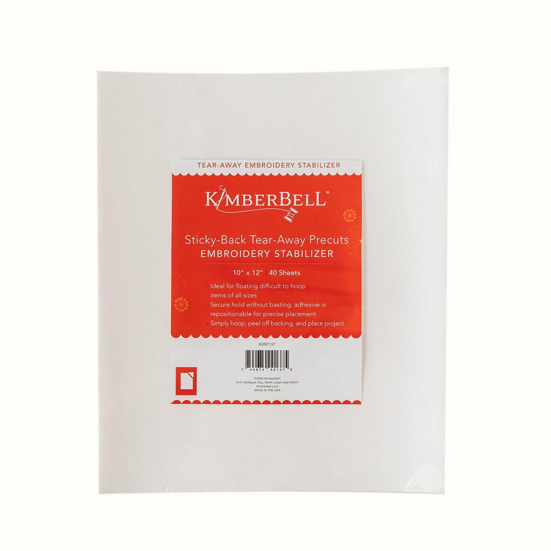 KimberBell Sticky-Back Tear-Away Precuts 10 x 12 KDST137 40pcs