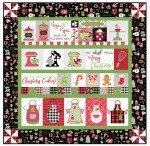 Kimberbell We Whisk You a Merry Christmas Kit - Black - Embroidery Version - Finishes 40 X 40