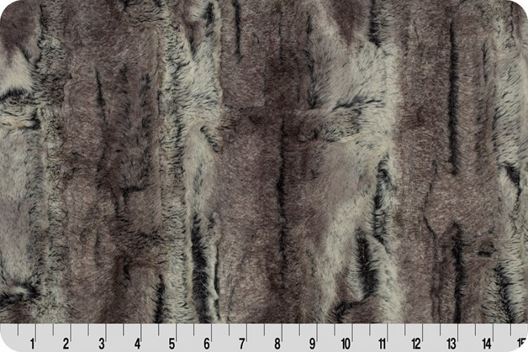 Luxe Cuddle Mountain Fox Pewter/Beige 58/60