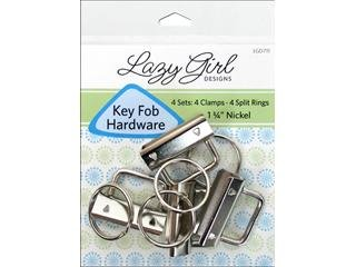 Lazy Girl Design Accessories Key Fob Hardware Refill Nickel 4pc