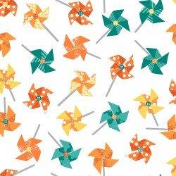 Sprinkle Sunshine Pinwheels White MAS8252 O