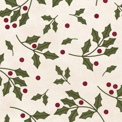 Most Wonderful Time Flannel - Holly Cream 9213 E