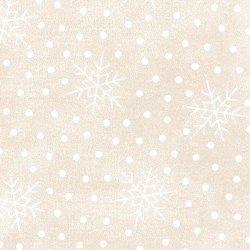 Most Wonderful Time Flannel - Falling Snow Cream 9215 E
