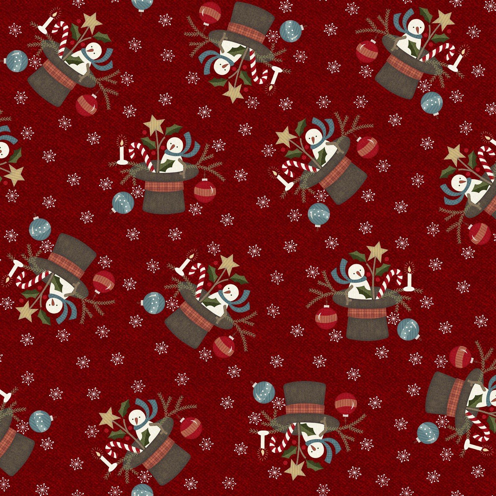 Snowdays Flannel - Santa Hat 9933 R Red