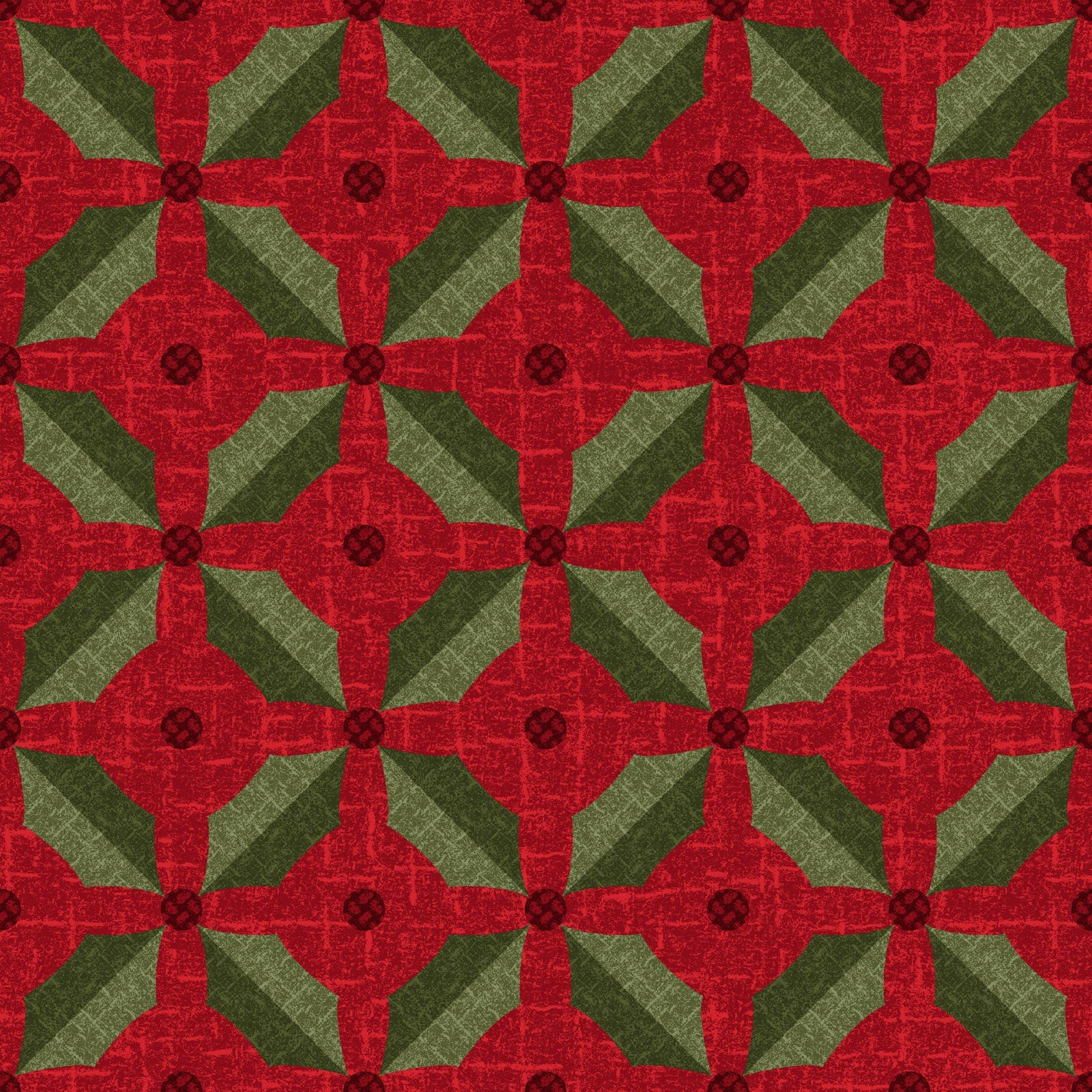 Snowdays Flannel - Holly 9935 R Red
