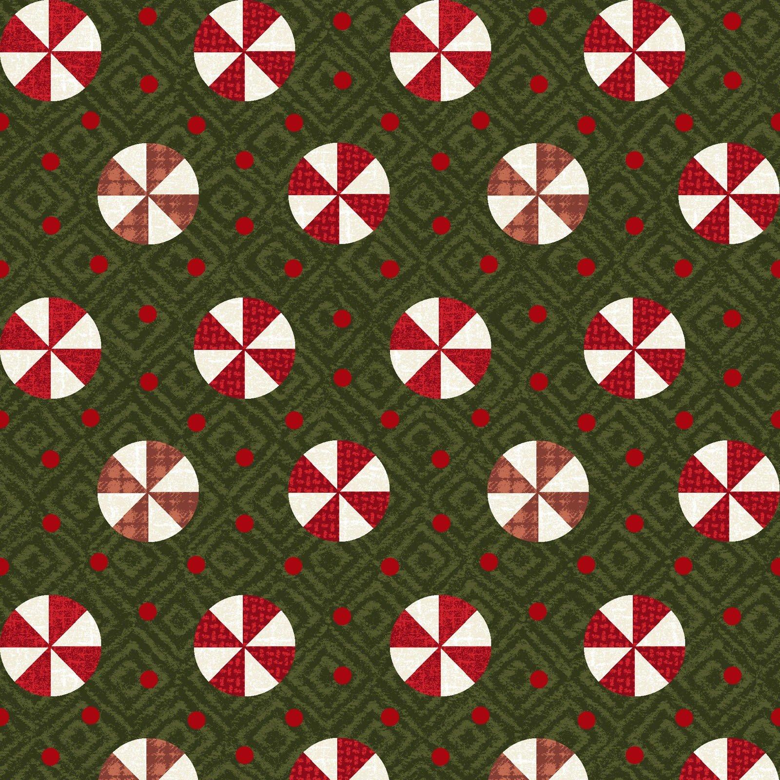 Snowdays Flannel - Peppermint 9936 G Green