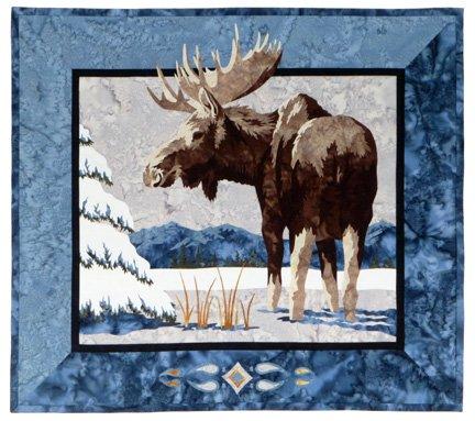 Moose 'n Spruce Blue 27 1/2 x 24 1/2 WDA0905B *