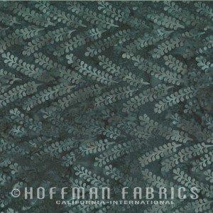Hoffman Bali Batik - Linear Leaf Mineral N2837-380