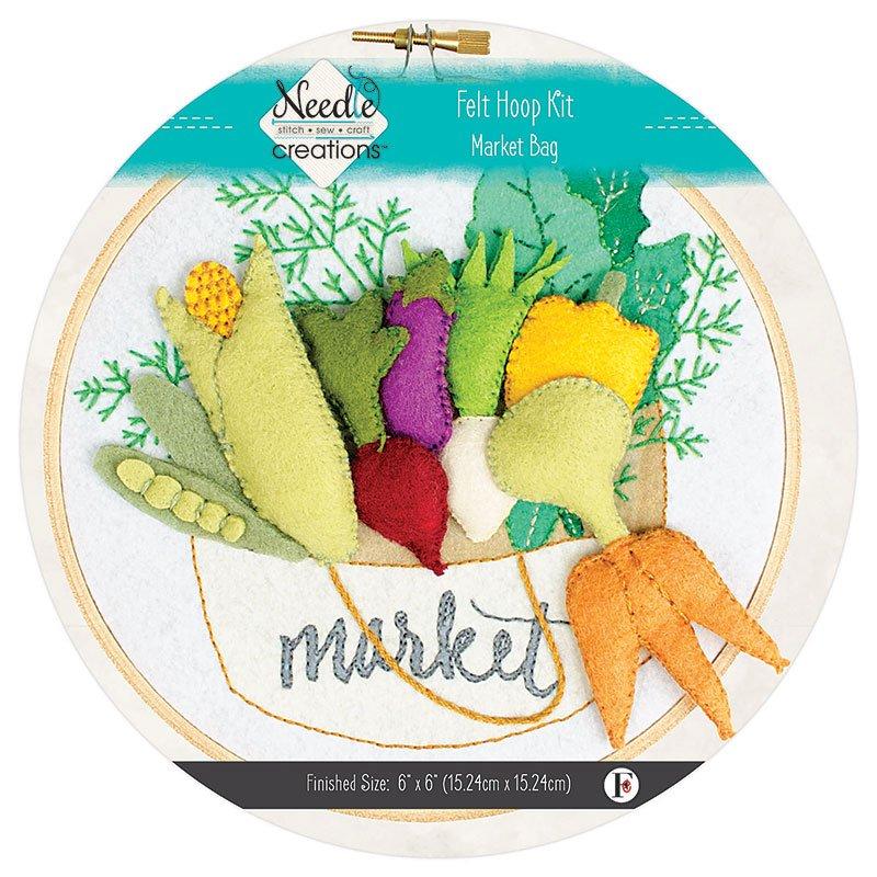 Needle Creations Market Bag Felt Hoop Kit