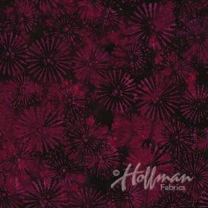 Hoffman Bali Batik - Pinwheels Mulberry P2008 428