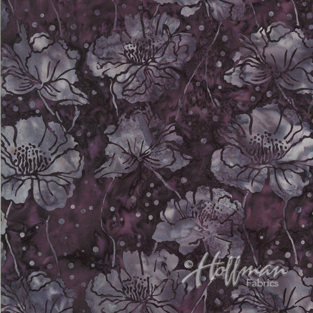 Hoffman Bali Batik - Poppies Zinfandel P2939 390