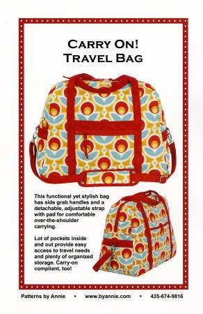 Carry on Travel Bag Pattern