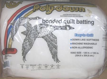 Hobbs Poly-Down Premium Polyester Batting King 120 x 120