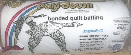 Hobbs Poly-Down Premium Polyester Batting Crib 45 x 60