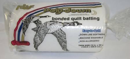 Hobbs Poly-Down Premium Polyester Batting  Twin 72 x 90