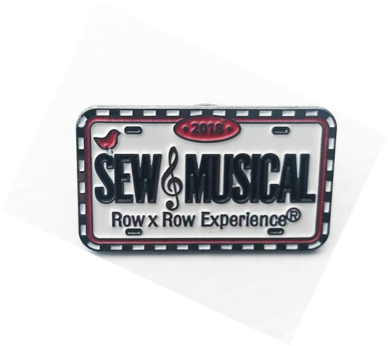 Row By Row 2018 License Plate Pin Sew Musical *