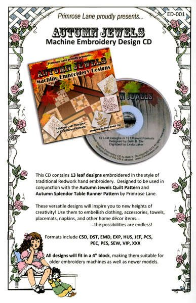 EMB. - Autumn Jewels Embroidery CD
