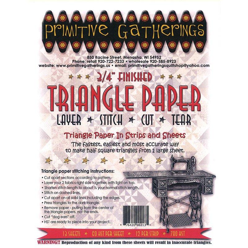 3/4 Triangle Paper