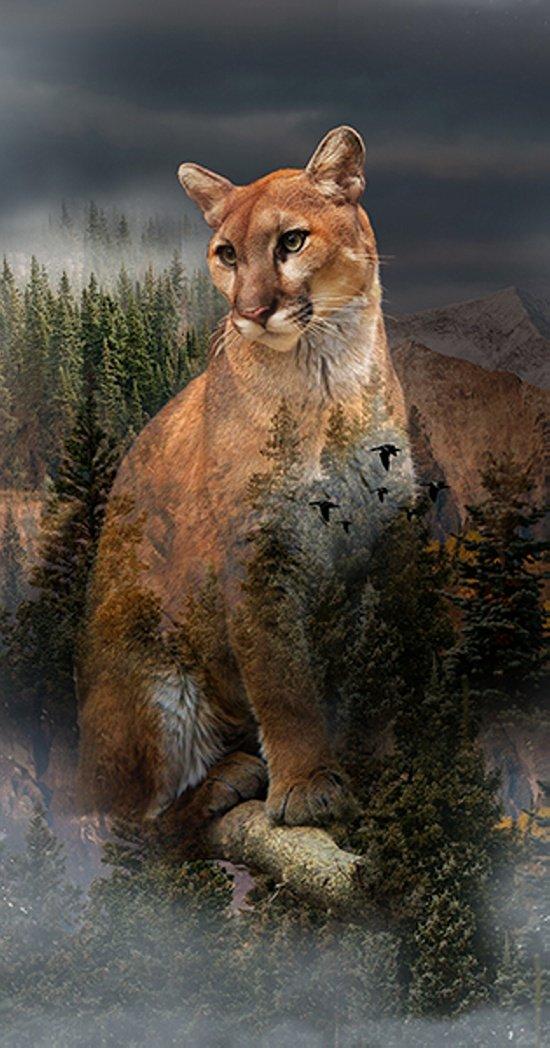 Hoffman Spectrum Digital - Call of the Wild - Cougar Q4490 141 Pine - Panel #205