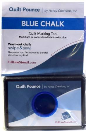 Stencil Chalk Transfer Quilt Pounce Pad Blue