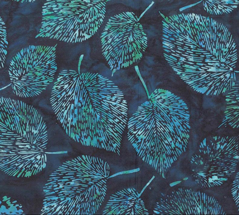 Hoffman Bali Batik - Fine Leaf R2218 68 Indigo