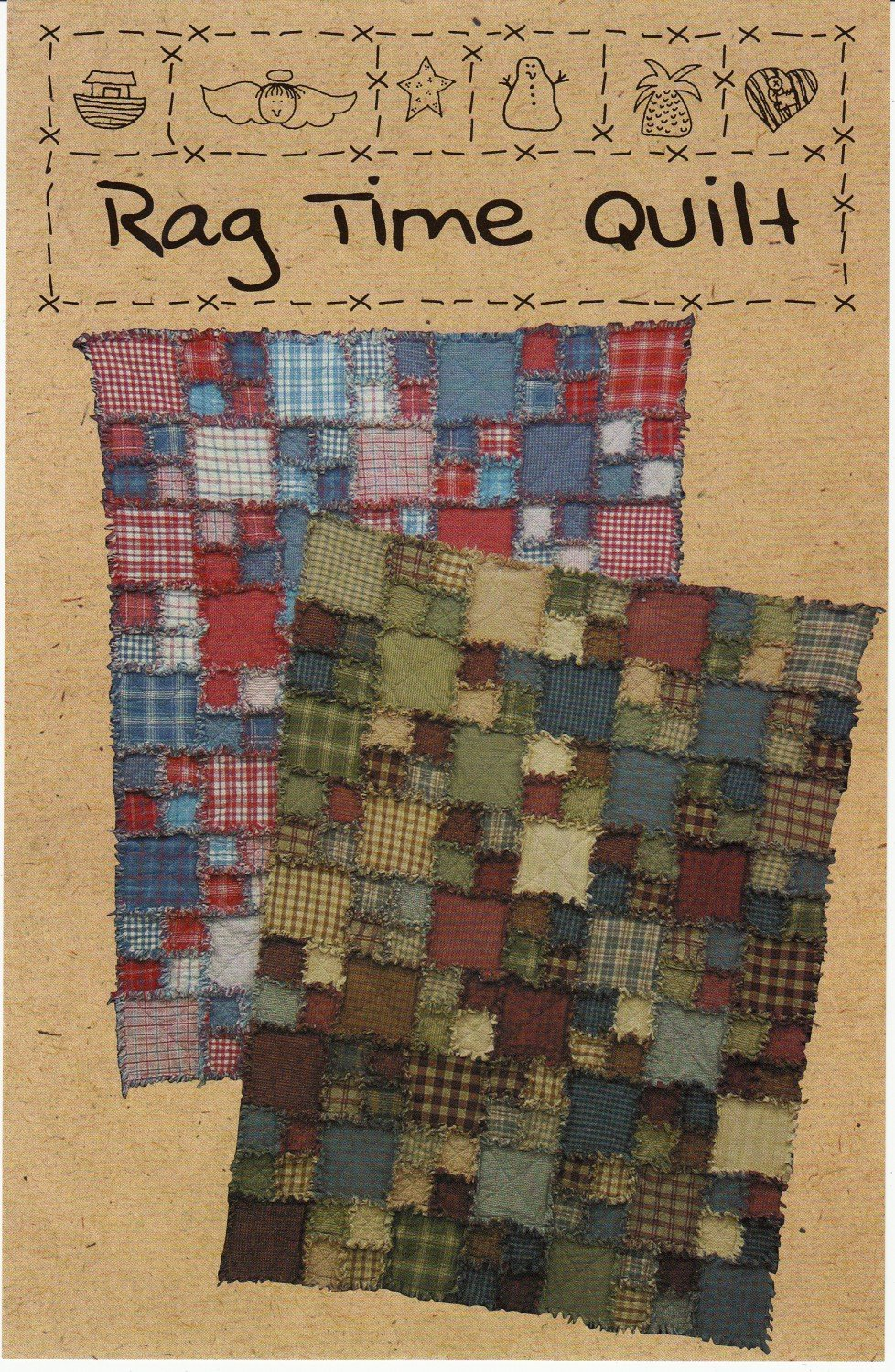 Rag Time Flannel Quilt Kit  - Throw 49 x 63